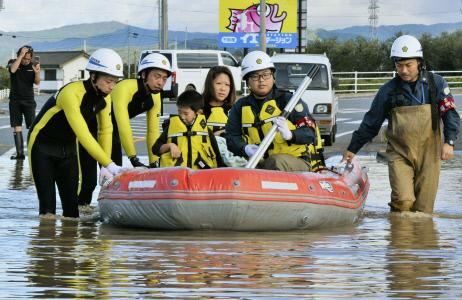 EL TIFON HAGIBIS SUMERGE AL NORESTE JAPONES