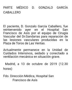 PARTE MEDICO DE GONZALO CABALLERO