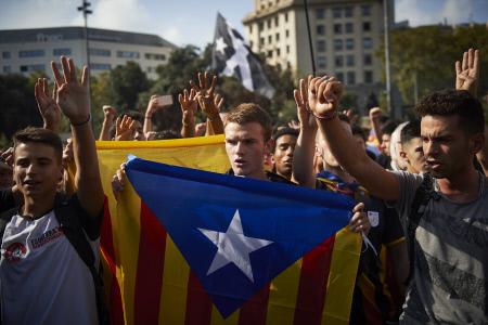 PROTESTAS EN EL CENTRO DEL BARCELONA TRAS SENTENCIA DEL TRIBUNAL SUPREMO SOBRE EL PROCES