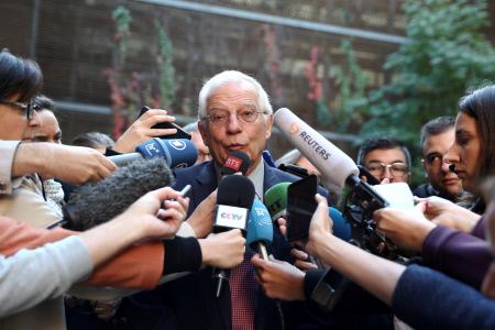 JOSEP BORRELL COMPARECE ANTE LOS MEDIOS TRAS LA RECIENTE SENTENCIA DEL PROCES