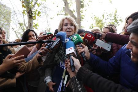 ESPERANZA AGUIRRE DECLARA EN AUDIENCIA NACIONAL POR EL CASO PUNICA