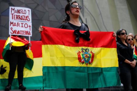 MANIFESTACIONES EN LA PAZ BOLIVIA PARA RECORDAR A LOS DOS HOMBRES ASESINADOS EN SANTA CRUZ