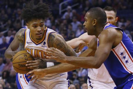NBA: PHOENIX SUNS-PHILADELPHIA