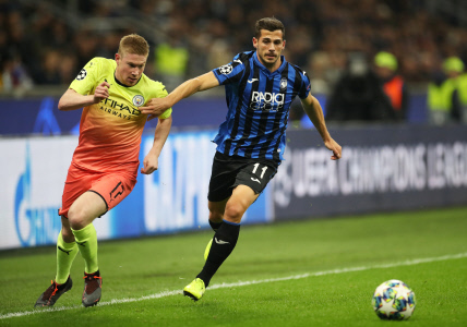 CHAMPIONS LEAGUE: ATALANTA VS MANCHESTER CITY