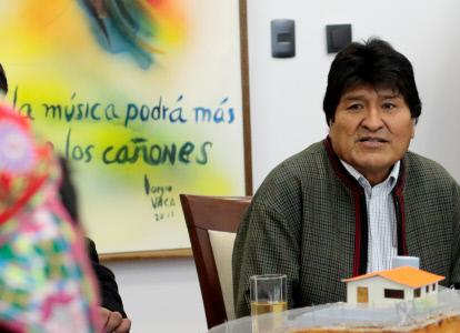 EVO MORALES SE REÚNE CON MINEROS EN EL PALACIO PRESIDENCIAL DE LA PAZ