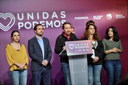 RUEDA DE PRENSA DE PABLO IGLESIAS DURANTE LA NOCHE ELECTORAL