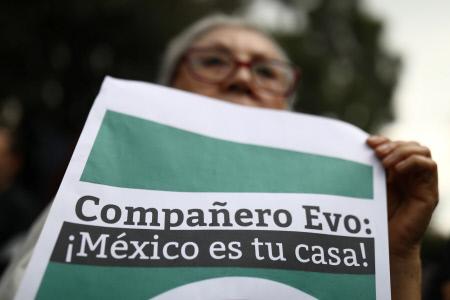 MUESTRAS DE APOYO A EVO MORALES EN MEXICO