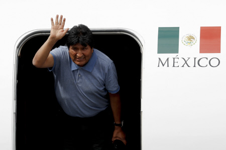 EVO MORALES ATERRIZA EN MEXICO