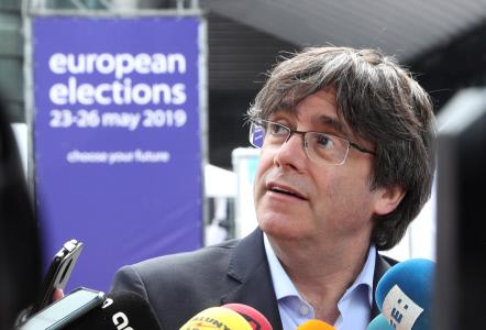 CARLES PUIGDEMONT SIGUE LA JORNADA DE VOTACIONES DESDE BRUSELAS