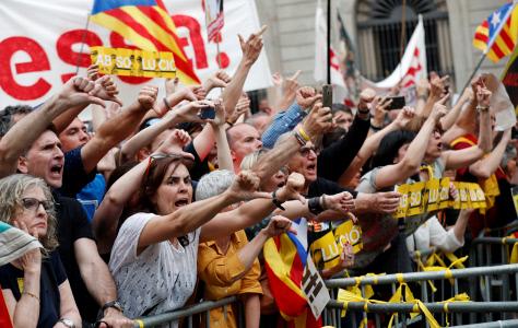 PROTESTAS CONTRA ADA COLAU EN BARCELONA