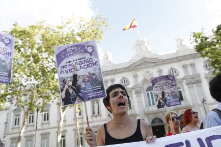CONCENTRACION EN MADRID TRAS LA SENTENCIA DE LA MANADA