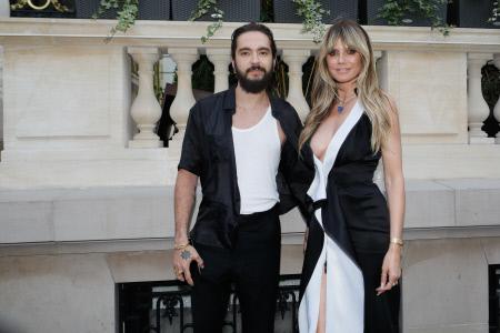 HEIDI KLUM Y SU NOVIO EN LA PRESENTACION DEL PERFUME ''7 LOVERS'' EN PARIS