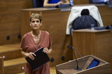 SESIÓN DE INVESTIDURA DE MARIA CHIVITE EN EL PARLAMENTO DE NAVARRA