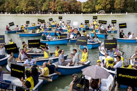 ACTO PROTESTA AMNISTIA INTERNACIONAL POR UN PUERTO SEGURO EN EL MEDITERRANEO