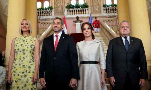 IVANKA TRUMP SE REUNE CON EL PRESIDENTE DE PARAGUAY Y LA PRIMERA DAMA