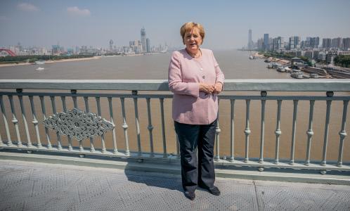 ANGELA MERKEL EN LA CIUDA CHINA DE WUHAN