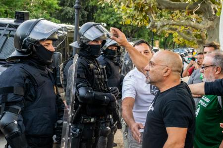 MANIFESTACIONES EN BARCELONA DURANTE LA DIADA