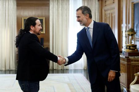EL REY FELIPE RECIBE EN AUDIENCIA A PABLO IGLESIAS