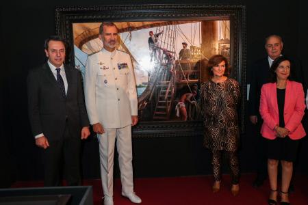 EL REY FELIPE VI INAUGURA EXPOSICION EN MUSEO NAVAL DE MADRID