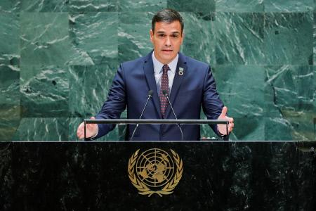 PEDRO SANCHEZ INTERVIENE EN LA ASAMBLEA GENERAL DE LAS NACIONES UNIDAS EN NUEVA YORK