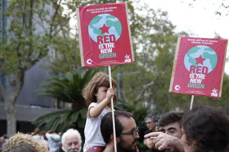 MANIFESTACION POR EL CAMBIO CLIMATICO EN BARCELONA