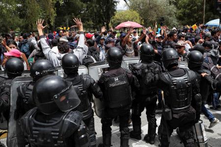 PROTESTAS EN QUITO CONTRA EL PRESIDENTE LENIN MORENO